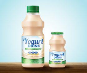 Yogurt drink package design vector 02