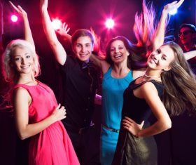 Young people in nightclub party Stock Photo 01
