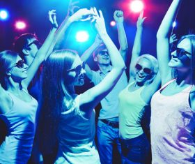 Young people in nightclub party Stock Photo 02