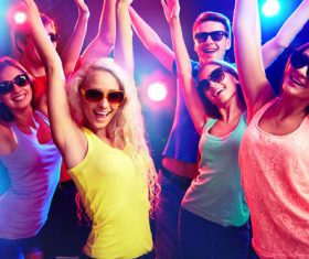 Young people in nightclub party Stock Photo 05