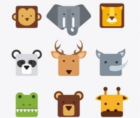 Zoo with cute animals cartoon vector 05