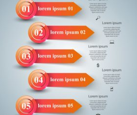 abstract infographic with arrow banner vector