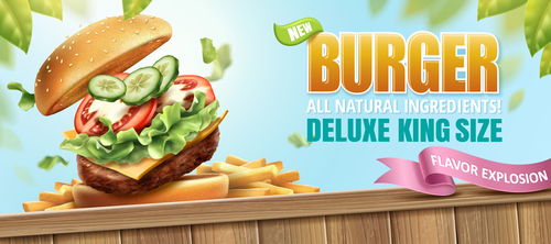 burger poster template vector 02