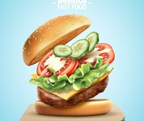 burger poster template vector 03