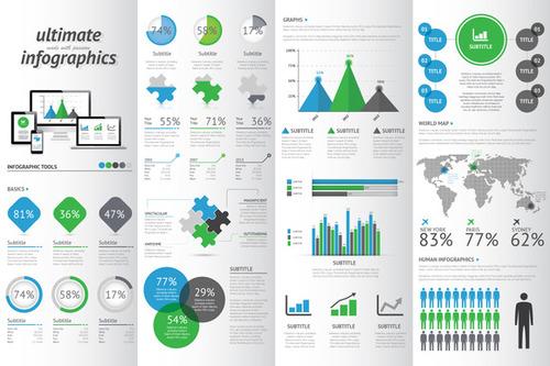 creative market infographics vector