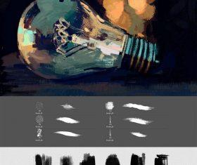 digital oil painting Photoshop Brushes