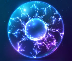electric sphere illustration vector