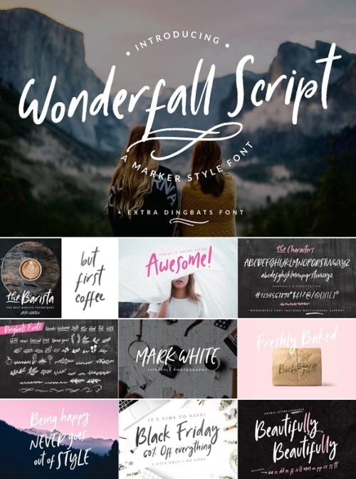 Wonderfall Script Dingbats Font
