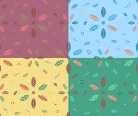 geometric leaves pattern vector