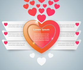 heart light infographic template vector