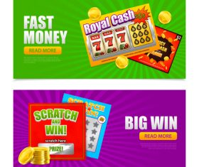 lottery banners vector