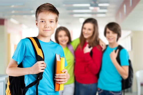 middle School student Stock Photo