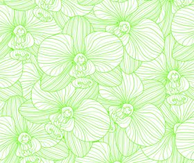 orchid seamless pattern vector 01