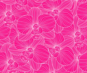 orchid seamless pattern vector 02