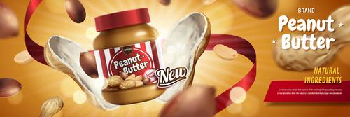 peanut butter poster template vector 01