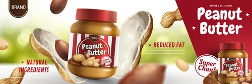 peanut butter poster template vector 02