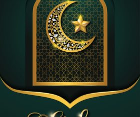ramadan kareem dark green background vector 01