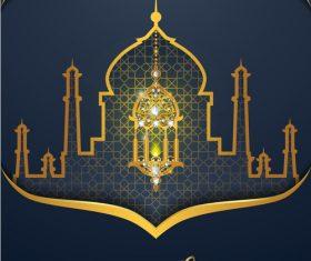 ramadan kareem dark green background vector 02