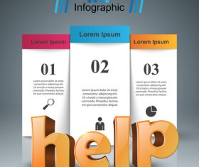 vertical banners infographic vector