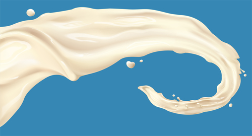 yogurt splash effect vector material