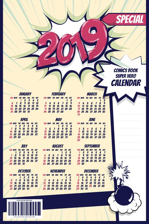 Download Template Calendar 2019 Photoshop