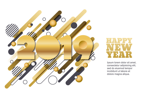 2019 new year background fashion design vector