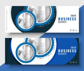 2023 business banners vector template 01