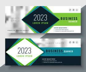 2023 business banners vector template 02