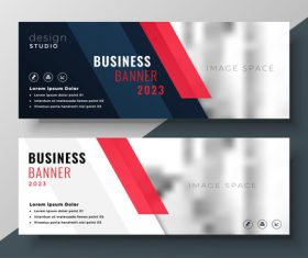 2023 business banners vector template 03