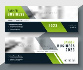 2023 business banners vector template 04