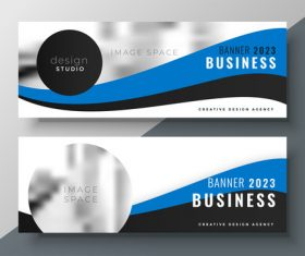 2023 business banners vector template 05