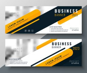 2023 business banners vector template 06