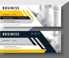 2023 business banners vector template 07