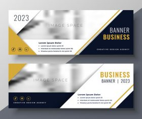 2023 business banners vector template 08