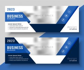 2023 business banners vector template 09