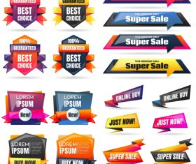 3D special offer labels design vector 03