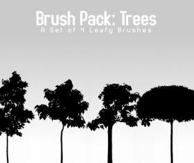 4 Kind Trees Photoshop brushes