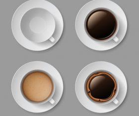 4 Kind cofee cup illustration vector