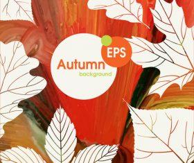 Abstract autumn background design vectors 01