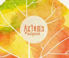Abstract autumn background design vectors 02