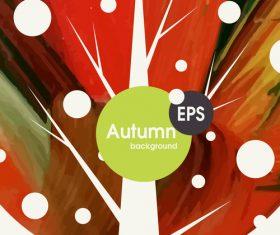 Abstract autumn background design vectors 05