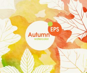 Abstract autumn background design vectors 07