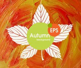 Abstract autumn background design vectors 09
