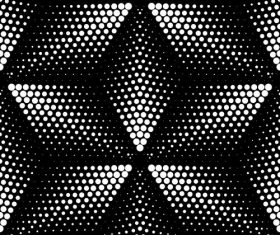 Abstract black with white seamless pattern vector 03