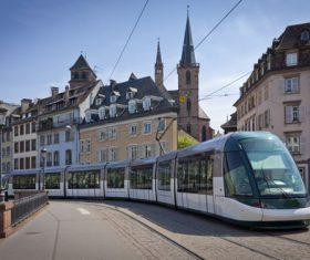 Advanced city tram Stock Photo 01