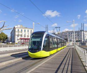 Advanced city tram Stock Photo 02