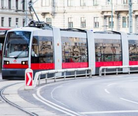 Advanced city tram Stock Photo 03