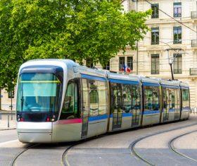 Advanced city tram Stock Photo 04