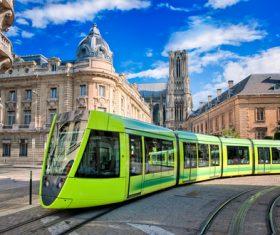 Advanced city tram Stock Photo 05