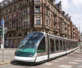 Advanced city tram Stock Photo 06